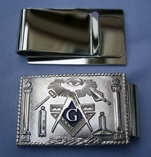 Masonic working tools money clip