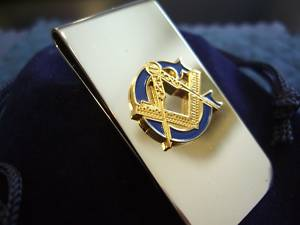 Masonic mason shiny craft money clip