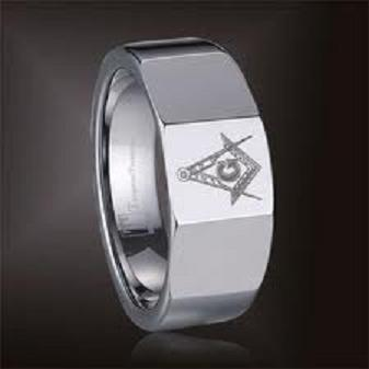 10MM TUNGSTEN CARBIDE FREEMASON MASONIC RING