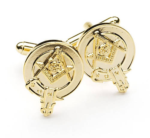 Masonic Gold Scottish Clan Crested Cufflinks