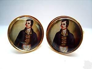Robbie Burns Masonic cufflinks