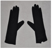 Masonic Knights Templar Black Cotton Gloves - Any Size