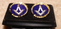 Royal Blue oval Cufflinks