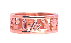 Masonic Wedding Ring
