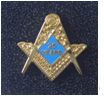 Masonic 25 Years a Mason Enamel Lapel Pin Badge.