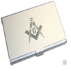 Engraved Masonic G Business Card Holder.