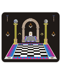 Mouse mat with floor and pillars