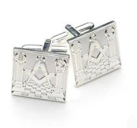 Silver platedgreat detail Masonic cufflinks