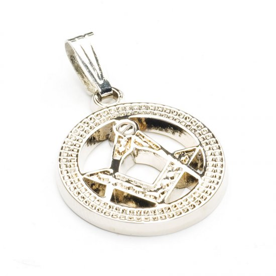 Silver Round Ladies Masonic Pendant