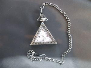 Triangular Pocket watch with Symbols