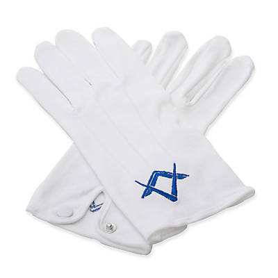 White Gloves with Square and Compass